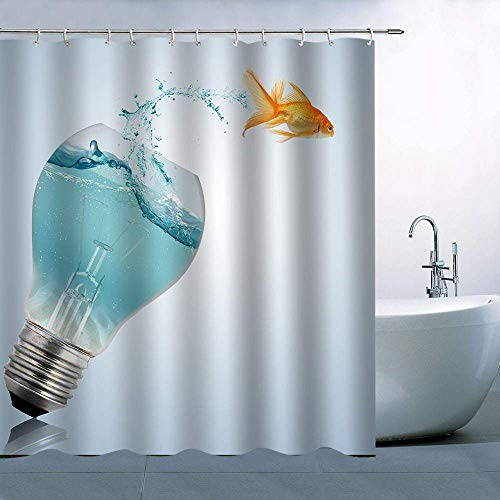 XZLWW gloeilamp in visvorm voor douchegordijn, lampen, visreservoir, rood, oranje, buiten, blauw water, waterdicht