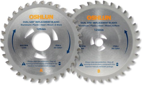 Oshlun DS-125G1 Replacement 2 Blade Set for the Original Omni Dual Saw with Triangular Driver Holes