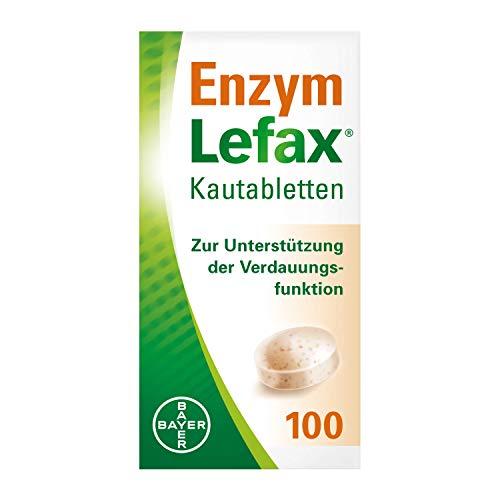 Lefax Enzym Kautabletten zur Unterstützung der Verdauungsfunktion und Linderung von Blähungen, 100 Stück