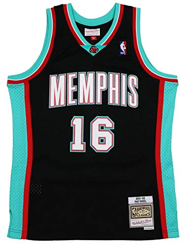 Mitchell & Ness Pau Gasol #16 Memphis Grizzlies 2001-02 Swingman NBA - Camiseta, color negro, Negro , xx-large