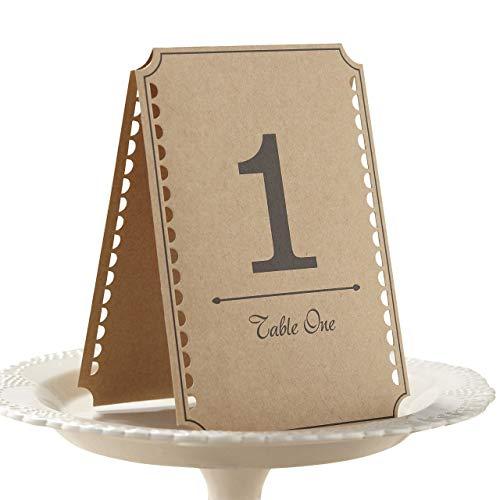 Ginger Ray Tischnummern für Hochzeit, Party, Braun