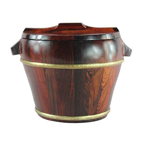Seau à Riz Cylindre à Riz Boîte de Stockage du Riz Tableau de contrôle des Insectes domestiques Capacité 3KG Boîtes Alimentaires (Color : Brown, Size : 27 * 35cm/10 * 13inch)