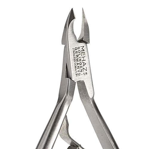 Mehaz Stainless Steel Cobalt Nipper, 1/4 Jaw for all purpose cuticle and nail trimming