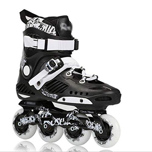 one- Skate Skates Professional 4-Wheel Sliding Skates for Inline Skates for Men and Women,Black,36