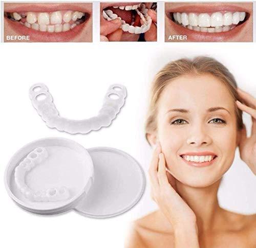 ZYXBJ dentaduras postizas perfectas sonrisa sonrisa blanqueamiento Hebilla de dientes, reutilizable y desmontable, fácil cuidado bucal