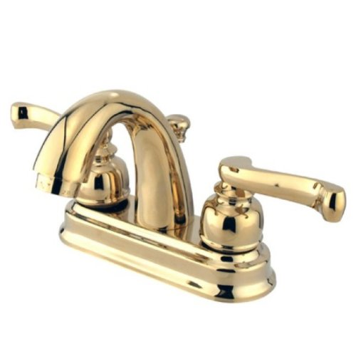 Kingston Brass KB5612FL Center Set Lavatory Faucet with High Rise Spout, 3-5/8