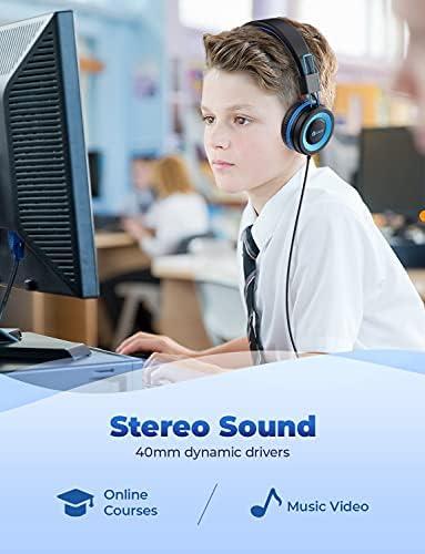 iClever HS14, Kids Headphones, Blue