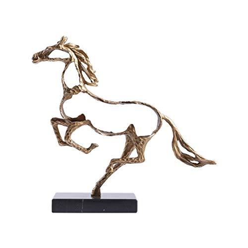 Decoración de escritorio Moderna estatua, escultura creativa hueco caballo, la decoración del hogar con estilo de metal Estatua animal, utilizando for la oficina decoración y la decoración del hogar a