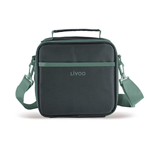 LIVOO SEP126V Sac à Repas Isotherme, Lunch Box   Avec 3 Boîtes Alimentaires Hermétiques 580 ml Incluses   Vert