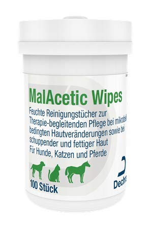 Dechra MalAcetic Wipes