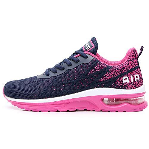 GANNOU Women's Air Athletic Running Shoes Fashion Sport Gym Jogging Tennis Fitness Sneaker Violet 7.5 B(M) US