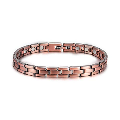JPDP Magnetic Copper Bangles For Women And Men Vintage Brand Bracelets With Pure Copper Magnet Health Bracelets-copper