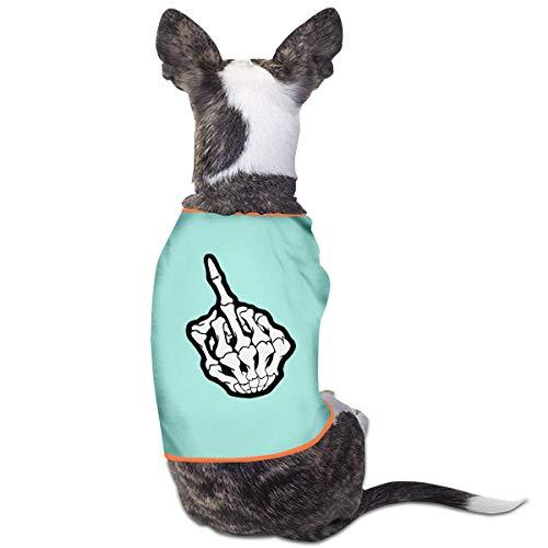 zhangyuB Hundekleidung Dog Clothes Middle Finger Dog Shirts Pet Vest