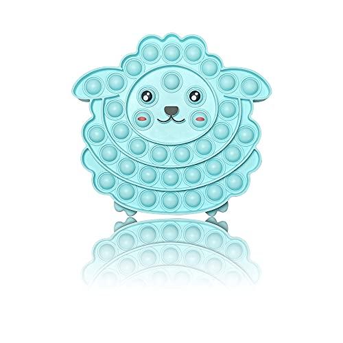 PIANETA Pop it Push it Fidget Toy, pop Bubble, endspannentes Anti Stress Spielzeug Sensorisches Spielzeug Autismus lindert Angstzustände. Für Kinder und Erwachsene (Schaf)