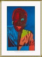 ポスター アンディ ウォーホル Ladies & Gentlemen exhibition 額装品 アルミ製ハイグレードフレーム(ゴールド)