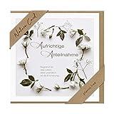 bsb Trauerkarte - Natur Card - Blumenranke mit Spruch - Umschlag Kraftpapier, 692002-2