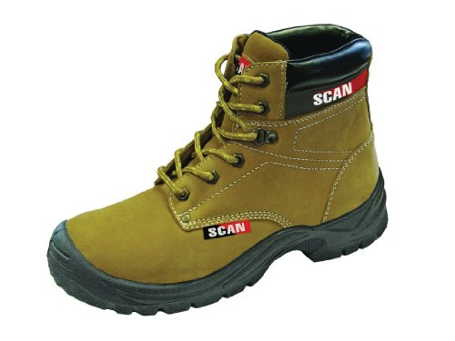 Scan Cougar Nubuck Safety Boot S1P Size 7-41