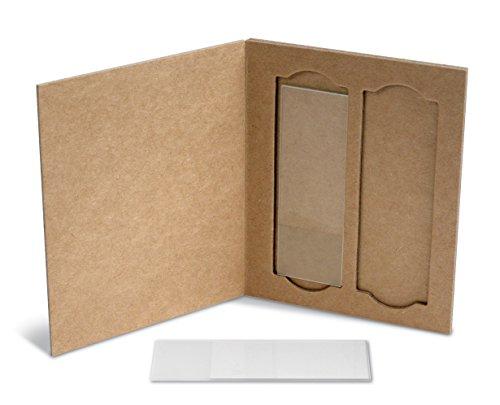 Heathrow Scientific HS9904 2-Place Cardboard Slide Holders, Cardboard (Pack of 36), Gallons, Degree C, Cardboard, Natural (Pack of 36)