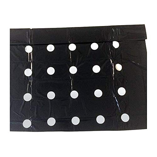 Black Garden Vegetable Membrane,Greenhouse Perforated Film Agricultural Perforated Mulch 5holes 0.95 * 10m Keep Warm Anti Grass Perforated for Agricultural
