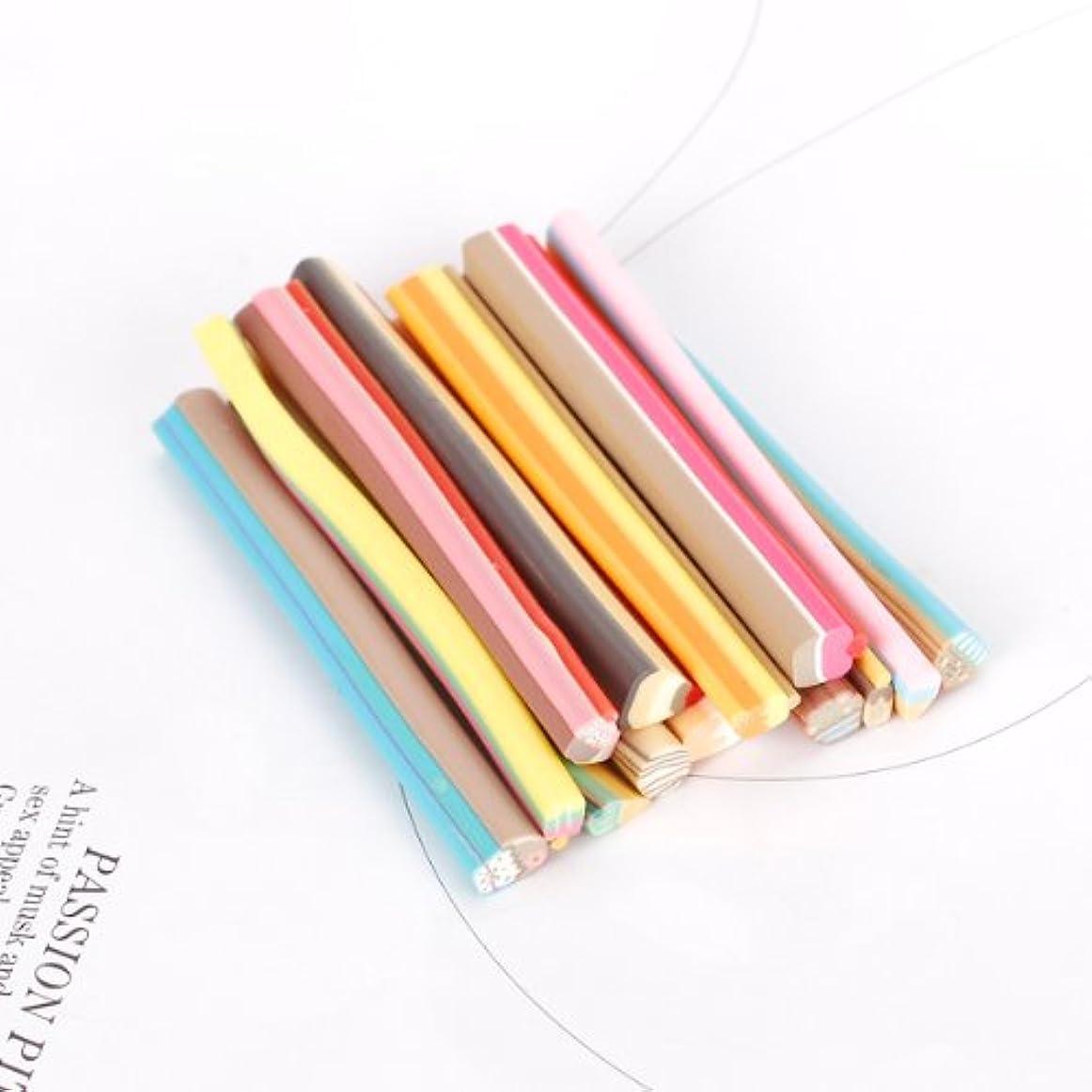 対応する五月考えた14本セット スライス棒 ネイルフルーツ棒 ネイルパーツ 樹脂粘土 カット ネイル デコ用