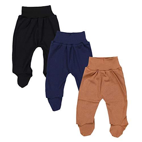 TupTam Baby Jungen Strampelhose mit Fuß 3er Pack, Farbe: Farbenmix 7, Größe: 80