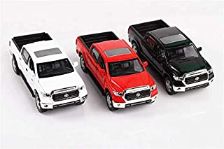 Toyota Tundra,1:36 Scale Alloy Pull Back Pickup Truck Models,4 Open Door Acousto-Optic Toys (White)