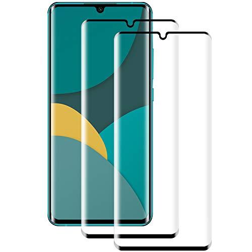 PUUDUU Cristal Templado para Xiaomi Mi Note 10/Note 10 Pro/Note 10 Lite, [2 Piezas] Resistente a Los Arañazos, Sin Burbujas, Película Protectora para Mi Note 10/Note 10 Pro/Note 10 Lite