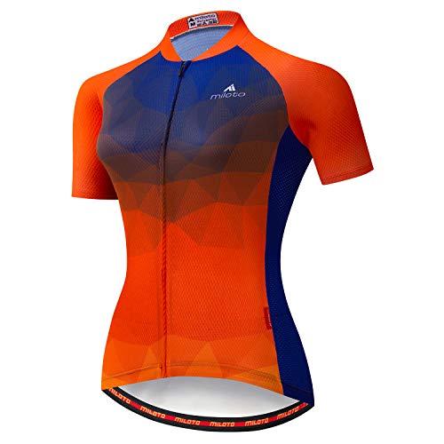 MILOTO Damen Radtrikot Kurzarm Reflektierendes Biking Tops - - 4XL (Brust = 118 cm)