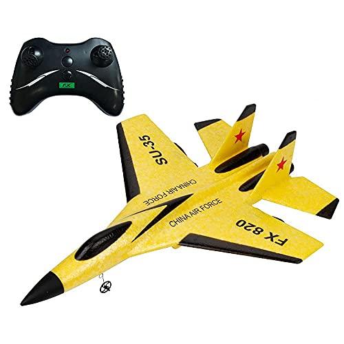 Avión de control remoto modelo Su-35, avión RC listo para volar 2.4G Glider al aire libre Fuerza Aérea Juguetes para niños (coche de control remoto)