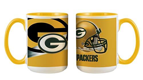 Green Bay Packers NFL 3D Inner Color Tasse, Becher, Mug 445ml