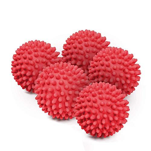 Torktumlare torktumlare bollar ej smälta - återanvändbar tvätt torktumlare bollar för torktumlare (röd)