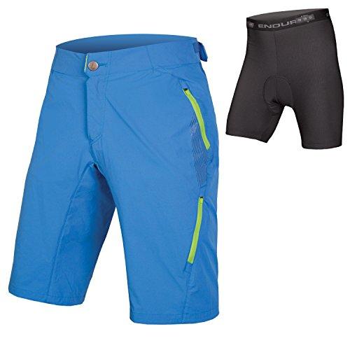 Endura SingleTrack Lite Herren Baggy MTB Shorts II with Liner, Herren, ocean, XX-Large