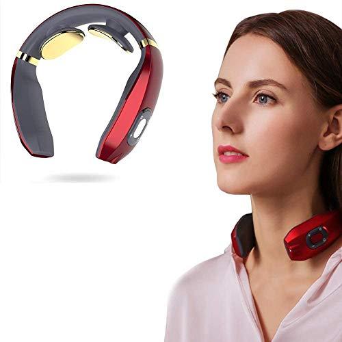 Intelligentes 3D Nackenmassagegerät, Elektro Magnetic Pulse Nackenmassage mit Heizungs-Funktion Geeignet für Haus, Auto, Büro