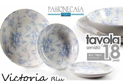 Vajilla de porcelana Victoria azul