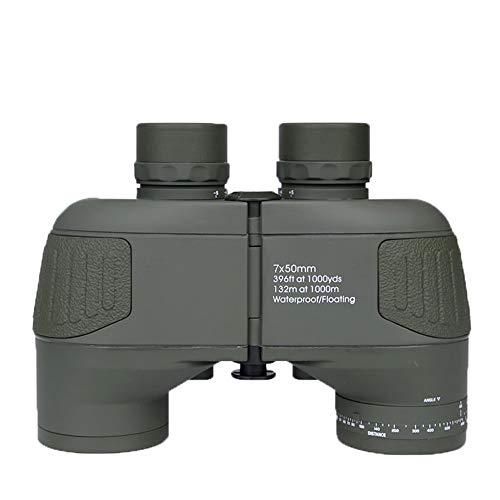 MJJT Étanche Antichoc télescope binoculaire Sportsman Optique Spotting Scope avec Boussole pour Camping randonnée Voyage 7X50,D