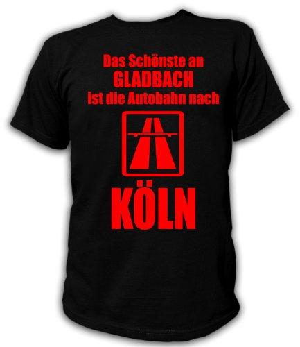 Artdiktat T-Shirt Anti Gladbach T-Shirt Unisex, Größe XL, schwarz
