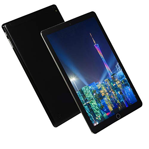 FJYDM Tablet 10.1 Inch, Android 8.0 Tablet with 16GB ROM/128GB Expand, Dual Sim Card 2MP+ 2MP Camera, Wifi, Bluetooth, Quad Core, IPS Display,Black