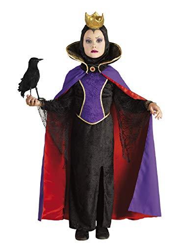 chiber - Disfraz de Reina Malvada para Niña (6-8 años)