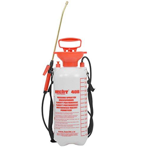 Hecht Druck-Spritze 408 Drucksprühgerät Gift- Unkraut- Druck-Sprüher (mit 8 Liter Tank und 50 cm Sprühlanze)