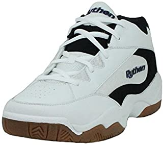 Python Wide (EE) Width Indoor Mid Racquetball (Squash, Indoor Pickleball, Badminton, Volleyball) Shoe (White; Size 10.0)