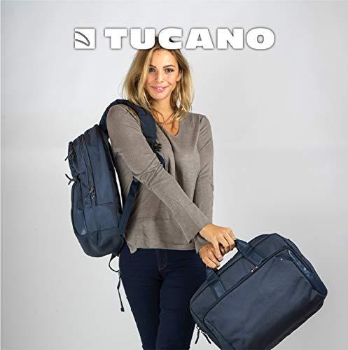 Tucano-Borsa Zainabile Business per Laptop 15.6 Pollici e MacBook 15, con Tasca Imbottita per Pc, iPad e Tablet. Borsa Ventiquattrore Portadocumenti per Computer Portatile, Uomo-Donna con Tracolla