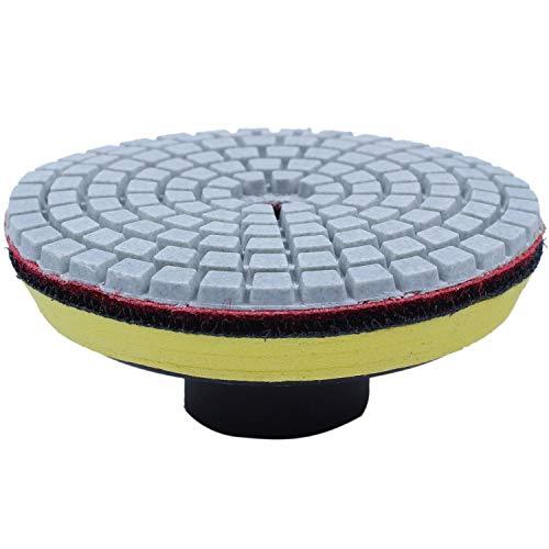 Swify 3 In.10 Piezas Disco De Pulido Mojado Flexible De Diamante 1 Pieza M10 Sostenedor Para Mármol Piedra Cerámica Granito Azulejo Molienda De Hormigón