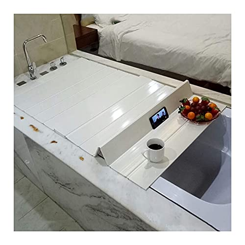 XnZLXS Badewannenbrett Badewannenabdeckung Anti-Staub Faltbares Staubbrett Badewannenisolierungsabdeckung-Stärke 0.7cm Badezimmerablage