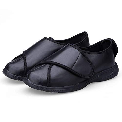 WASBAAR AANRAKEN SLUITEN BAR BANDSCHOENEN, gezwollen voeten brede voeten gezwollen schoenen, diabetische voeten misvormde schoenen-UK9_black, oedeemschoenen Diabetische brede artritis pantoffels