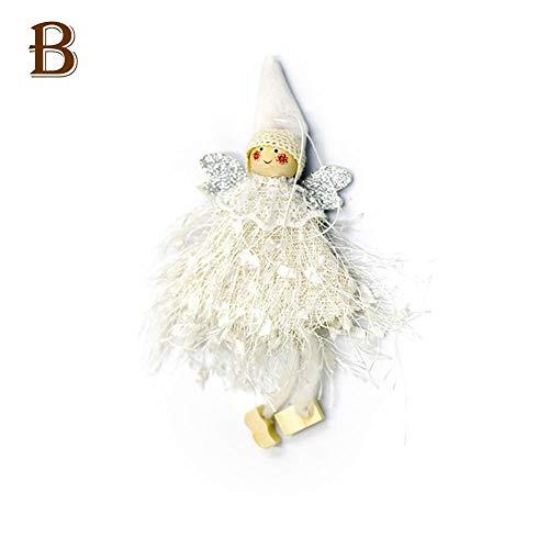 Envisioni Weihnachtsbaum-Puppen-Verzierungen, Wolle-Engels-Puppe Anhänger, Hauptweihnachtsgeschenke verwendbar für das Verzieren der Weihnachtsbäume, der Betten, der Treppen und der Kamine