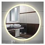 SAKLHDOQ Espejo Redondo de baño con luz led,...