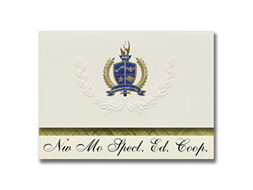 Signature Announcements Nw Mo Specl. Ed. Coop. (Maryville, MO) Graduation Announcements, Presidential style, Basic package of 25 with Gold & Blue Metallic Foil seal -  Signature Announcements, Inc, PAC_BASICPres_HS25_118190_206044