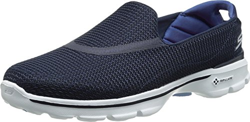 Skechers Performance Women's Go Walk 3 Slip-On Walking Shoe, Navy/White, 9.5 M US