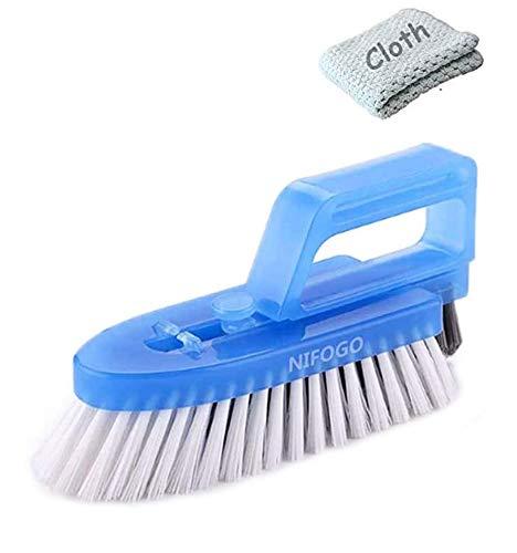 Nifogo Fugenbürste für Bad Küche und Haushalt, Badezimmerbürste, Reinigt Effektiv Fugenfliesen und entfernt Schimmel Oberflächlich (Blau Stoff)