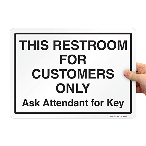 Restroom is Locked Ask Attendant for Key Vinyl Sticker Decal 8